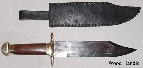 Naval Bowie Knife Wood